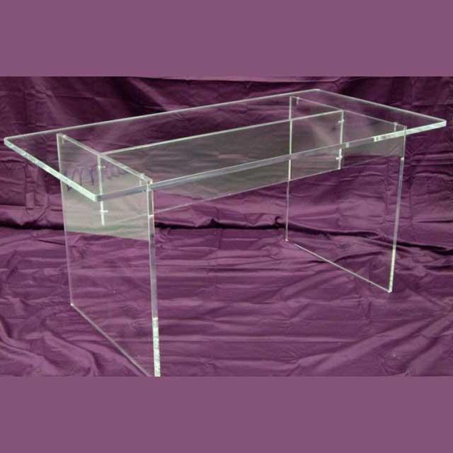 Tavolo plexiglass per galleria d'arte