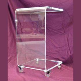 carrello di servizio plexiglass portavivande multisuo
