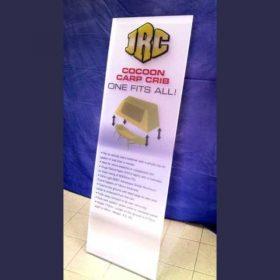 cartello plexiglass satinato piegato con stampa