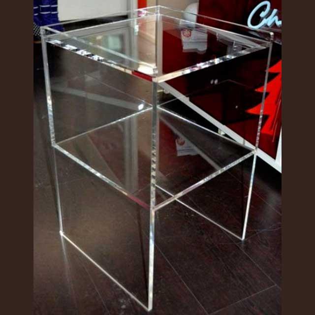 Comodino plexiglass trasparente doppia altezza | Ludovic Plexiglass