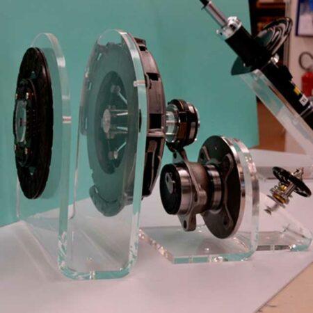 espositore plexiglass accessori macchine operatrici