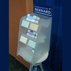 espositore plexiglass farmacia ripiani e marchio