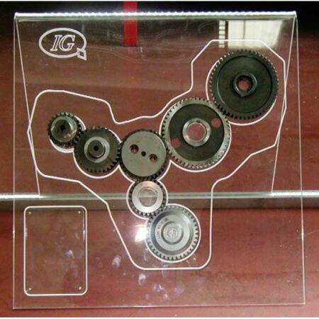 espositore plexiglass illuminato a led Italgear