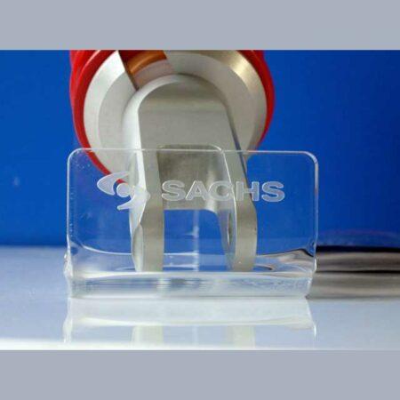 espositore plexiglass marcatura laser Sachs