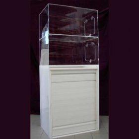 mobile vetrina plexiglass copertura mobile a serranda