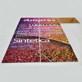 pannelli plexiglass stampati composizione per stand