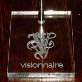 Espositore borse in plexiglass Visionnaire plexiglass retro inciso Visionnaire