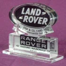 targa plexiglass retrostampata logo Land Rover