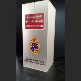 urna plexiglass raccolta fondi Comune di Bologna