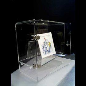 vetrina plexiglass chiusura a chiave