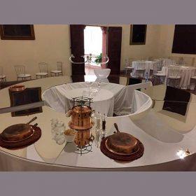 Copri tavolo plexiglass specchio buffet per eventi