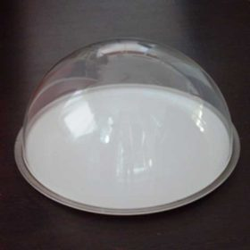 cupola plexiglass mezza sfera su vassoio