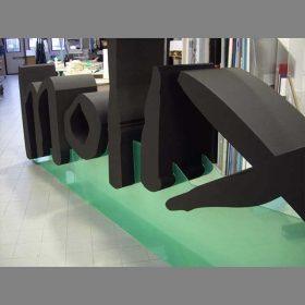 lettere polistirolo verniciate Molix