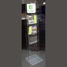 portadepliant plexiglass da terra 2 facciate