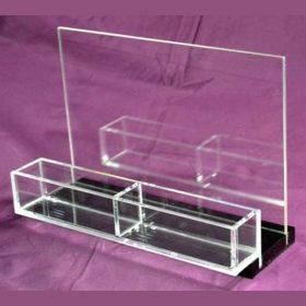 portadepliant plexiglass nero trasparente Limoni
