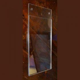 tasca portadepliant plexiglass da muro con fori