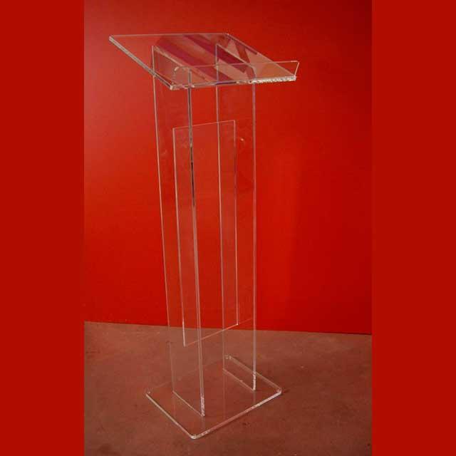 Leggio Da Terra Plexiglass.Leggio Plexiglass Da Terra Colonna Doppia Ludovic Plexiglass