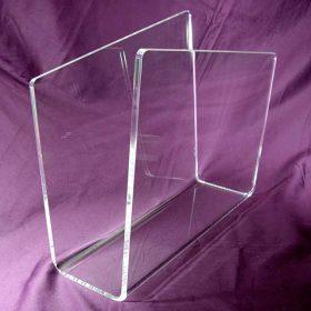 Portariviste plexiglass trasparente a pareti sfalsate