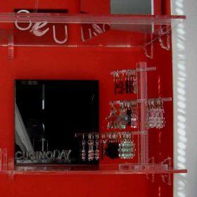 mensole plexiglass con reggimensole sagomate