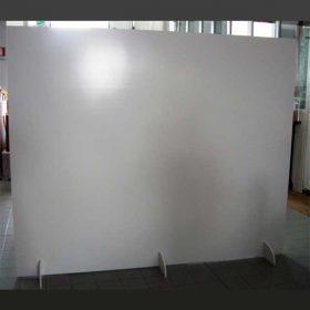 parete divisoria PVC con piedi supporto per stampa