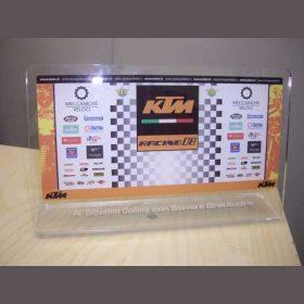 targa plexiglass premiazione con stampa retro Collina Giovanni