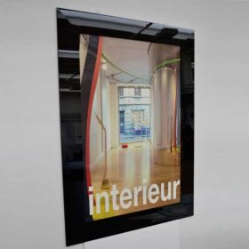 Cornice plexiglass nero smontabile 4 pezzi pinzaposter