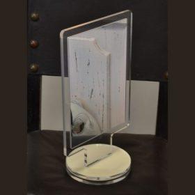 Specchi da banco in plexiglass trasparente avorio girevole