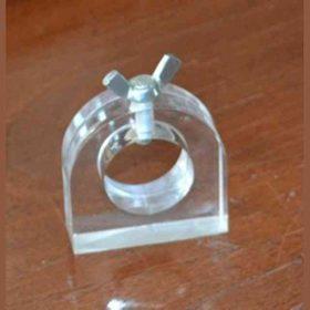 Rondella plexiglass con base e blocco a vite