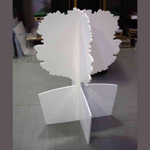 Albero in PVC massello bianco 3D
