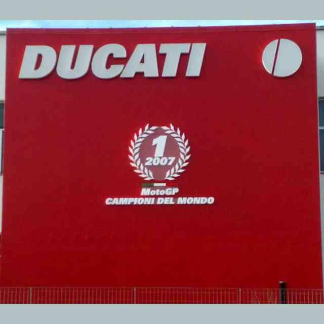 Cartello PVC scritte polistirolo in rilievo Moto Mondiale