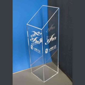 Colonna plexiglass taglio inclinato per stand