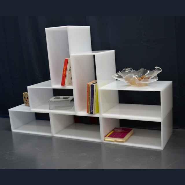 Cubi moduli arredo composizione per salotto ludovic for Plexiglass arredamento