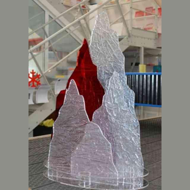 Decorazione vetrina Natalizia plexiglass frost