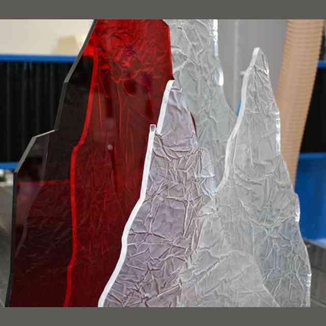 Decorazione Natalizia plexiglass frost dettaglio
