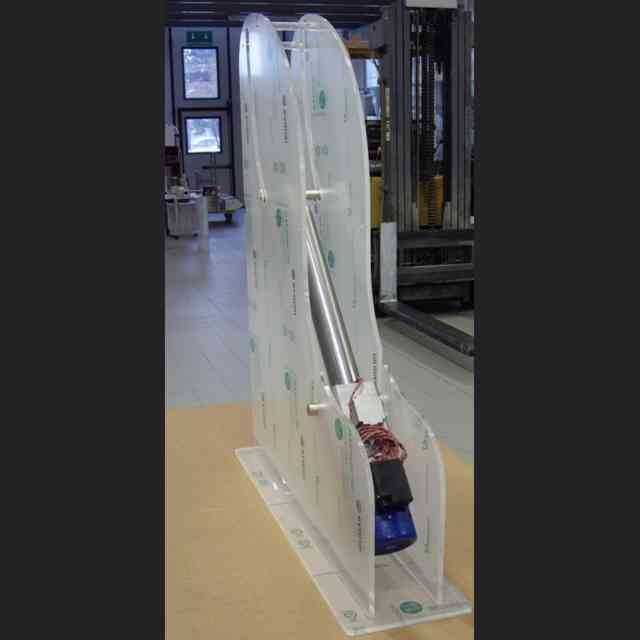 Espositore plexiglass per industria lavorazione