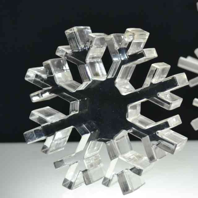 Fiocco di neve plexiglass ferma carta massello trasparente
