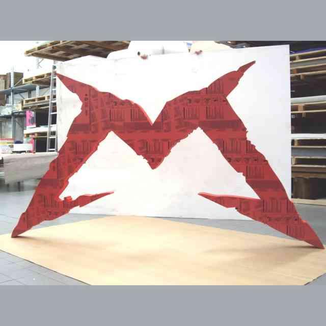 Insegna a logo PVC gigante rossa