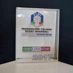Trofeo Sportivo plexiglass e PVC a scatola