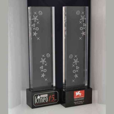 Trofeo plexiglass 15° Kineo Festival di Venezia