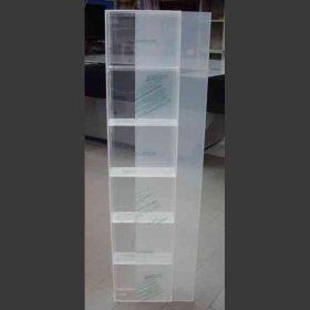 Vetrina plexiglass porta scorrevole