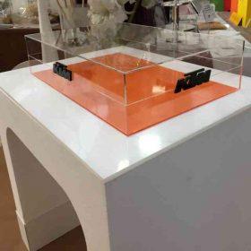 tavolo espositore polistirolo Plexiglass e PVC